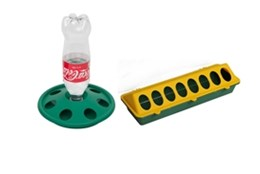Picture of Chick Feeder Trough + Bottle Drinker