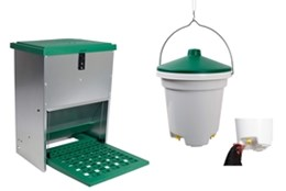 Picture of 12kg Feed-o-Matic + 12L Hanging Nipple Drinker Combo
